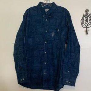 Columbia Cotton PFG Long Sleeve Shirt Sz L
